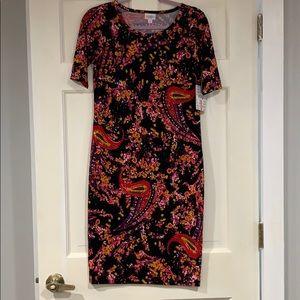 LuLaRoe multi-colored Julia dress S BWT